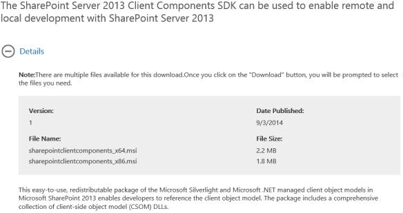 SharePoint2013ClientComponentsSDK